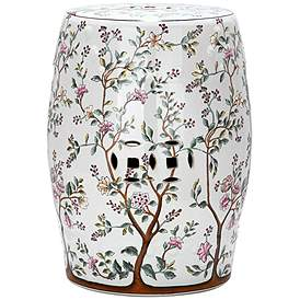 Excellent Multi Color Ceramic Garden Stools Outdoor Decor Lamps Plus Ncnpc Chair Design For Home Ncnpcorg