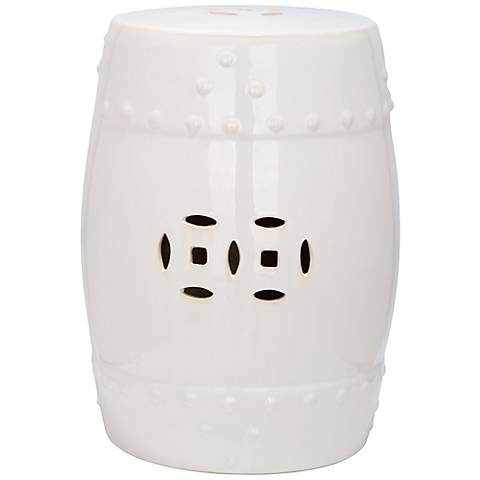 Safavieh Modern Ming Cream Ceramic Garden Stool