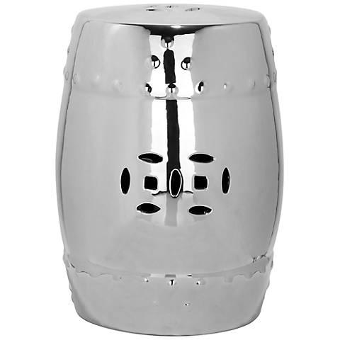 Safavieh Modern Ming Silver Ceramic Garden Stool
