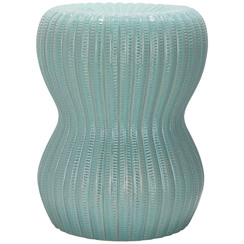 Safavieh Hour Glass Light Aqua Ceramic Garden Stool