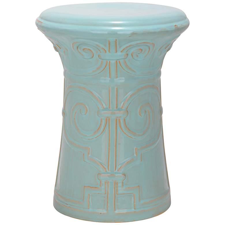 Safavieh Imperial Scroll Light Aqua Ceramic Accent