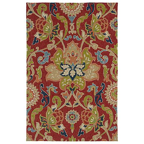 Kaleen Home & Porch 2042-25 Red Floral Rug