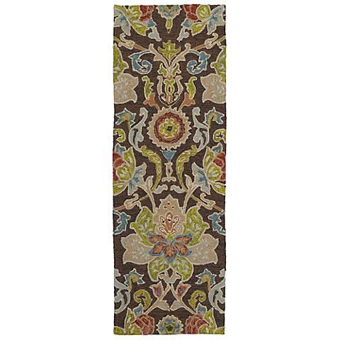 Kaleen Home & Porch 2042-40 Chocolate Floral Rug