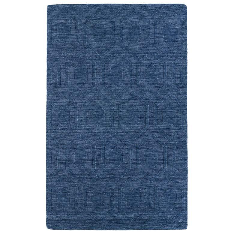 Kaleen Imprints Modern IPM01-17 Blue Hexagon 5'x8' Rug