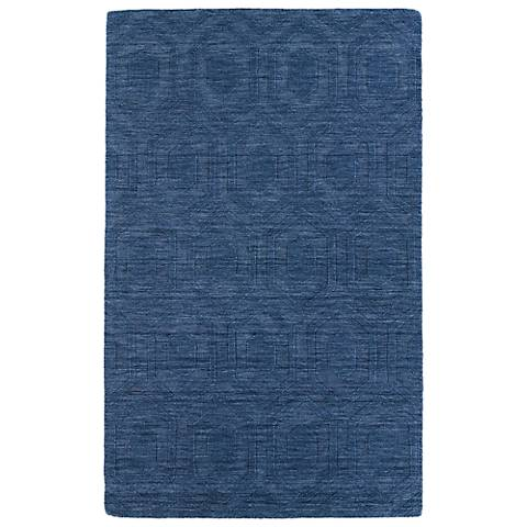 Kaleen Imprints Modern IPM01-17 Blue Hexagon Rug