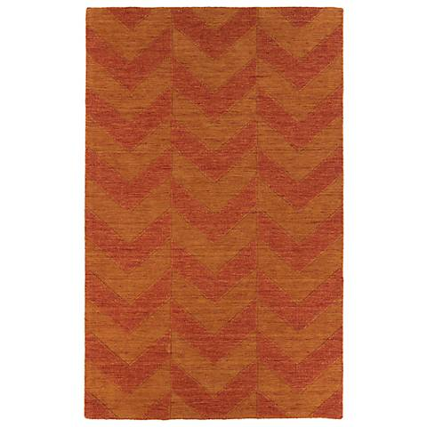 Kaleen Imprints Modern IPM05-53 Red Zig Zag Rug