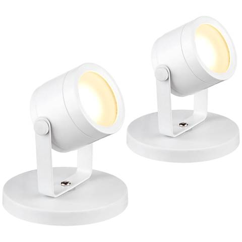 """Ladera 5"""" High LED Accent-Uplight in White Set of 2"""