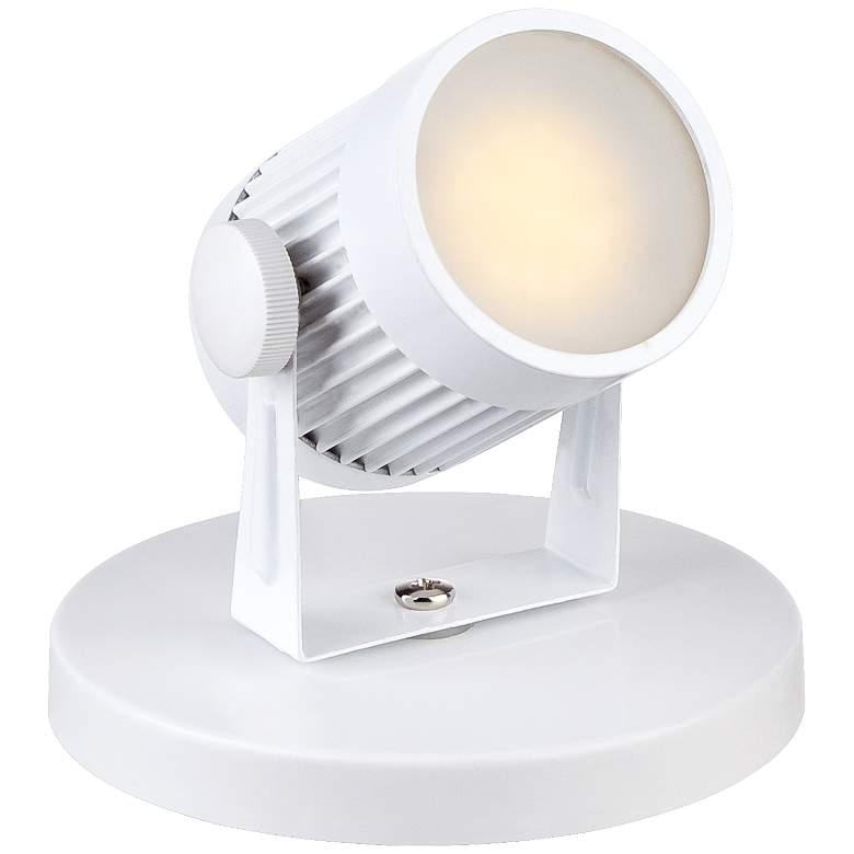 """Downey 2 3/4"""" High White LED Mini-Uplight"""