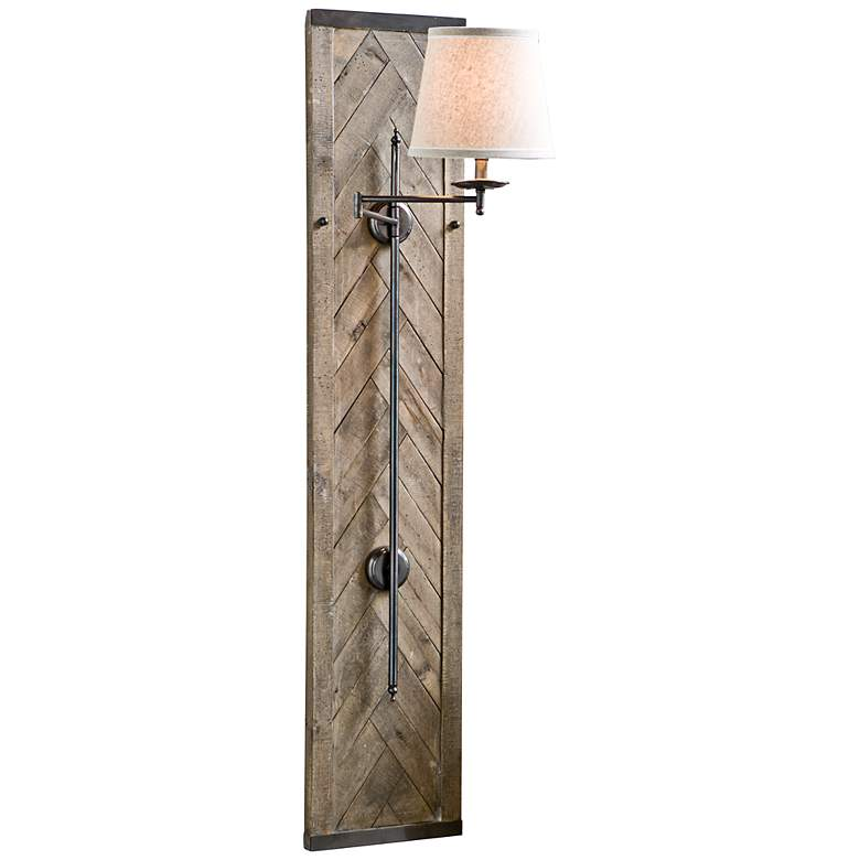 "Regina Andrew Herringbone 60"" Swing-Arm Sconce"