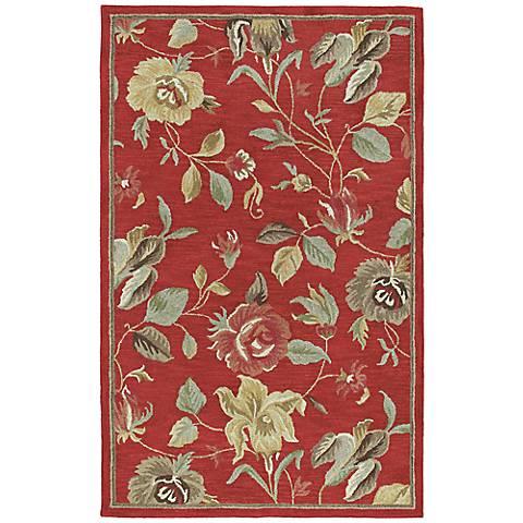 Kaleen Khazana 6557-25 Savannah Red Wool Area Rug