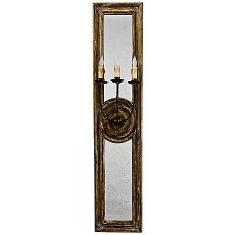 "Regina Andrew Design Three Arm 40"" High Mirror Wall Sconce"