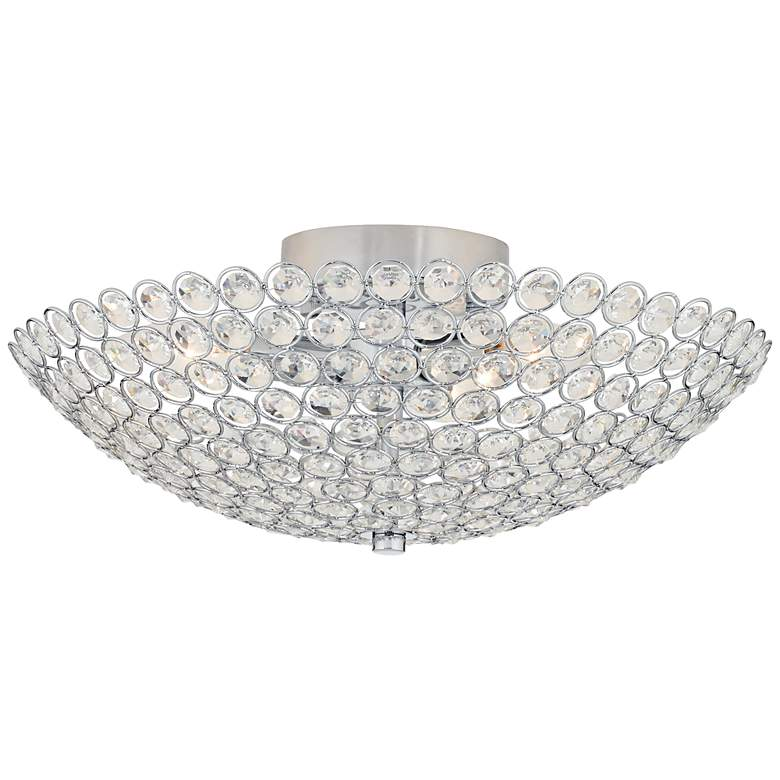 "Possini Euro Design Geneva 12"" Wide Crystal Ceiling Light"
