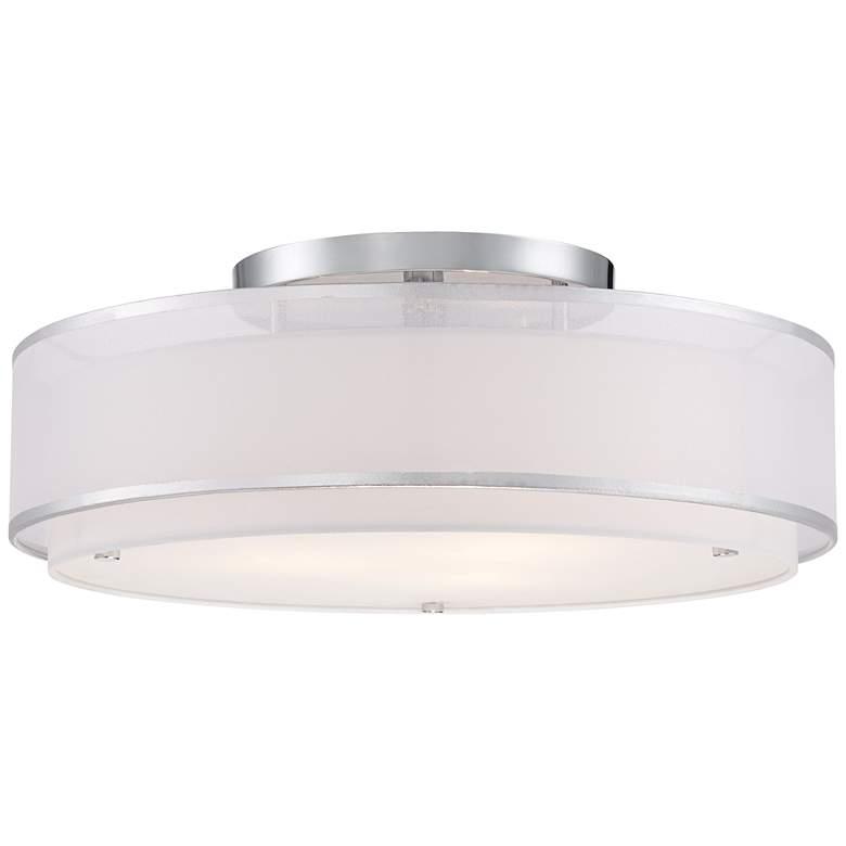 """Possini Euro Design Double Organza 20"""" Wide Ceiling Light"""