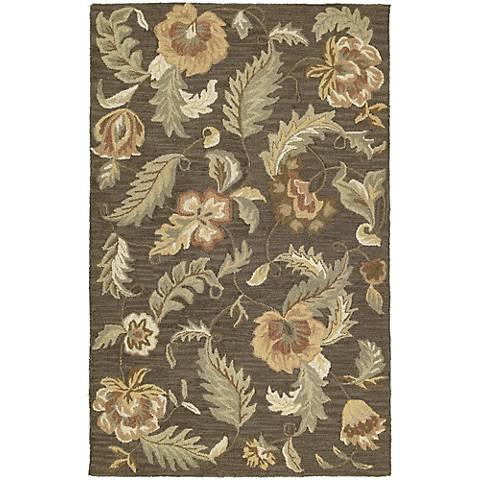 Kaleen Khazana 6593-38 Hana Charcoal Wool Area Rug