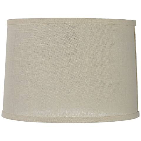 Off white burlap drum lamp shade 13x14x10 spider 4r329 lamps plus off white burlap drum lamp shade 13x14x10 spider mozeypictures Images