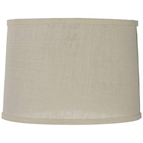 Off White Burlap Drum Lamp Shade 13x14x10 Spider