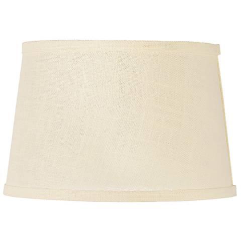 Cream Burlap Drum Lamp Shade 10x12x8 (Spider)