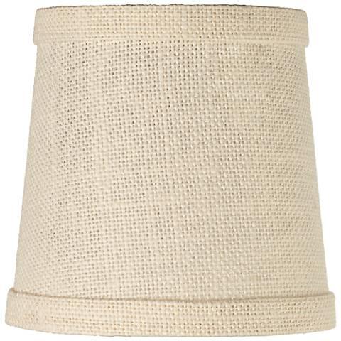 Cream Burlap Lamp Shade 4x5x5 (Clip-On)