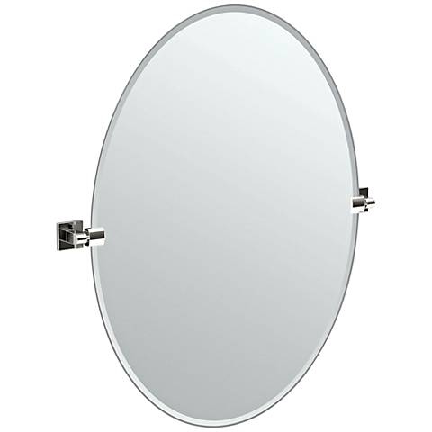 """Gatco Elevate Chrome Large Oval 28 1/2"""" x 32"""" Wall Mirror"""