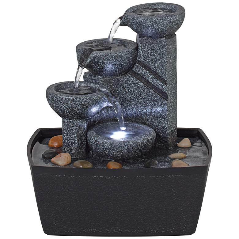 """Rowell 7 1/2"""" High Tabletop Fountain with Light"""