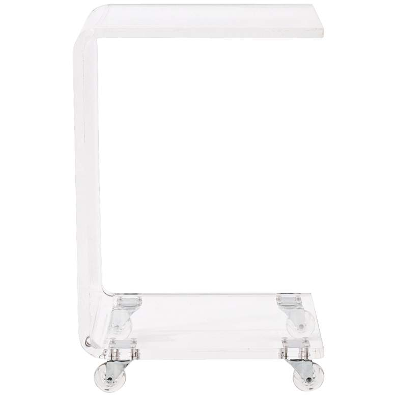"""Cece 13 1/2"""" Wide Clear Acrylic Modern Accent Table"""