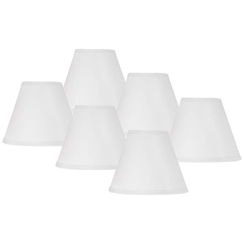 Kathy Ireland Set of 6 White Paper Shades 3x6x4.5 (Clip-On)