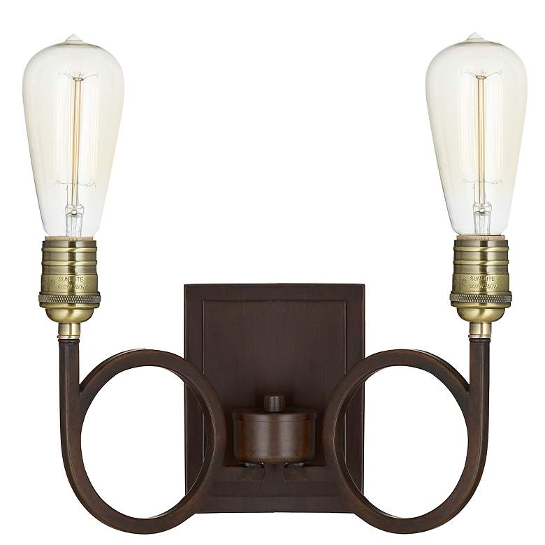"""Bayvale 8"""" High Bronze Two-Light Sconce"""