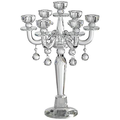 Huntington Crystal Candelabra Taper Candle Holder