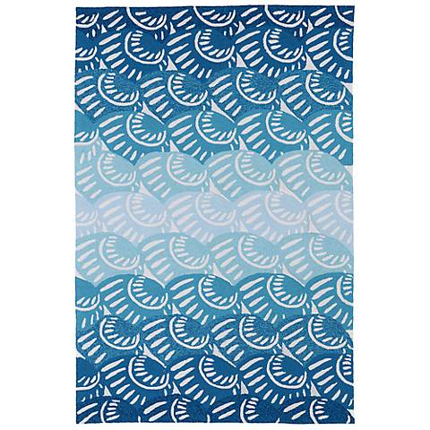 Kaleen Matira MAT10-17 Blue Indoor/Outdoor Rug