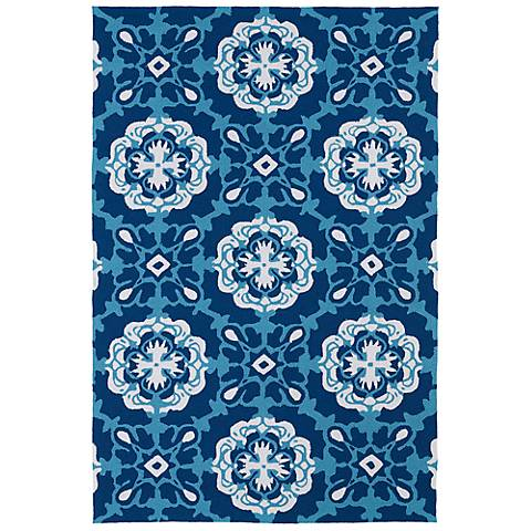 Kaleen Matira MAT12-17 Blue Indoor-Outdoor Rug