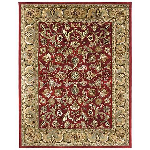 Kaleen Mystic 6001-25 William Red Wool Area Rug
