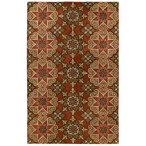 Kaleen Mystic 6049-57 Papal Salsa Wool Area Rug