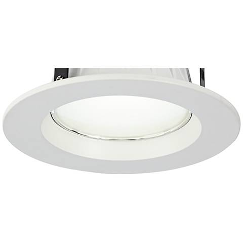 "4"" Dimmable 9 Watt LED Recessed Retrofit Trim in White"