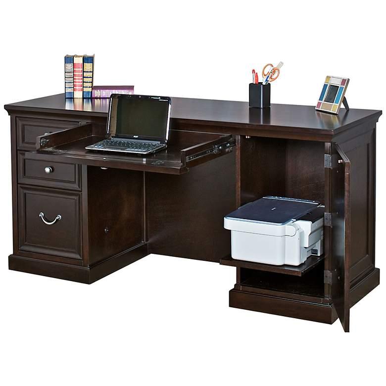 """Fulton 61"""" Wide Double Pedestal Office Desk by Kathy Ireland"""