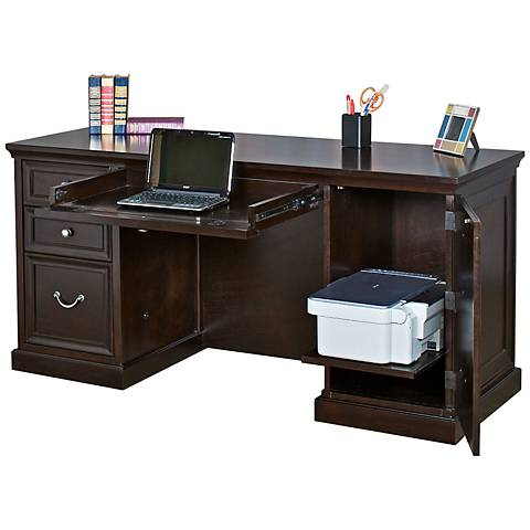 Kathy Ireland Home Fulton Double Pedestal Desk