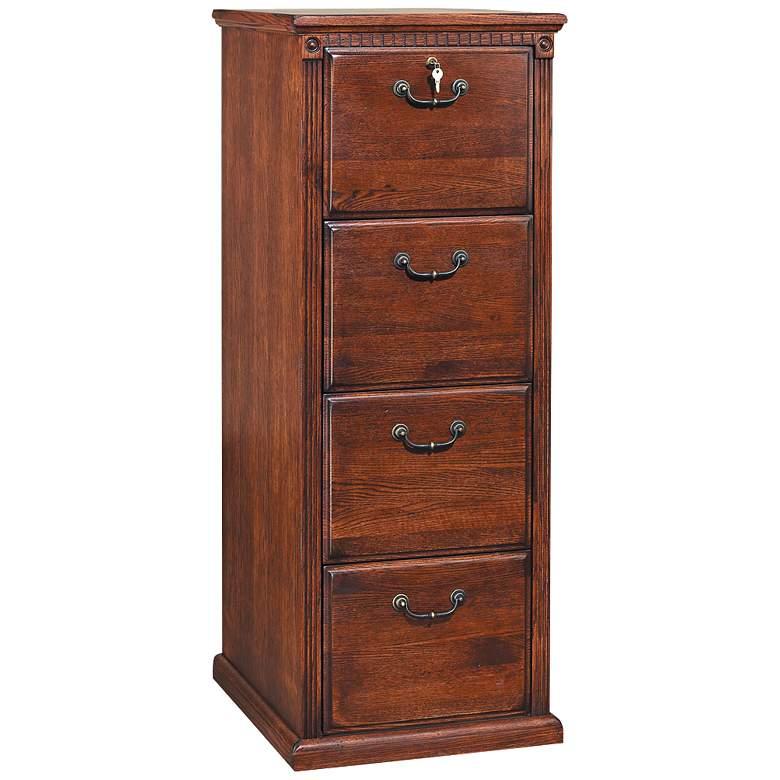 """Huntington 55"""" High Burnished 4-Drawer File Cabinet"""