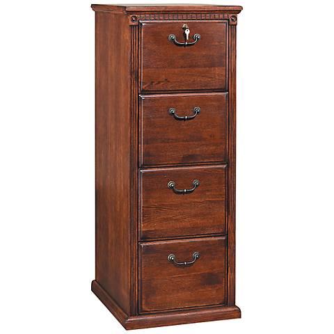 Kathy Ireland Huntington Burnished 4-Drawer File Cabinet