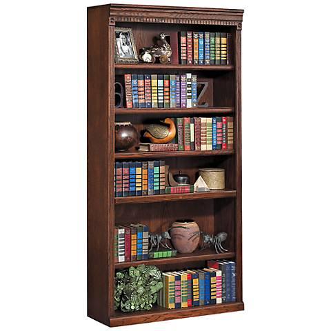"""Kathy Ireland Huntington 72"""" Burnished Wood Bookcase"""