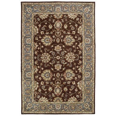 Kaleen Mystic 6062-49 Agean Brown Wool Area Rug
