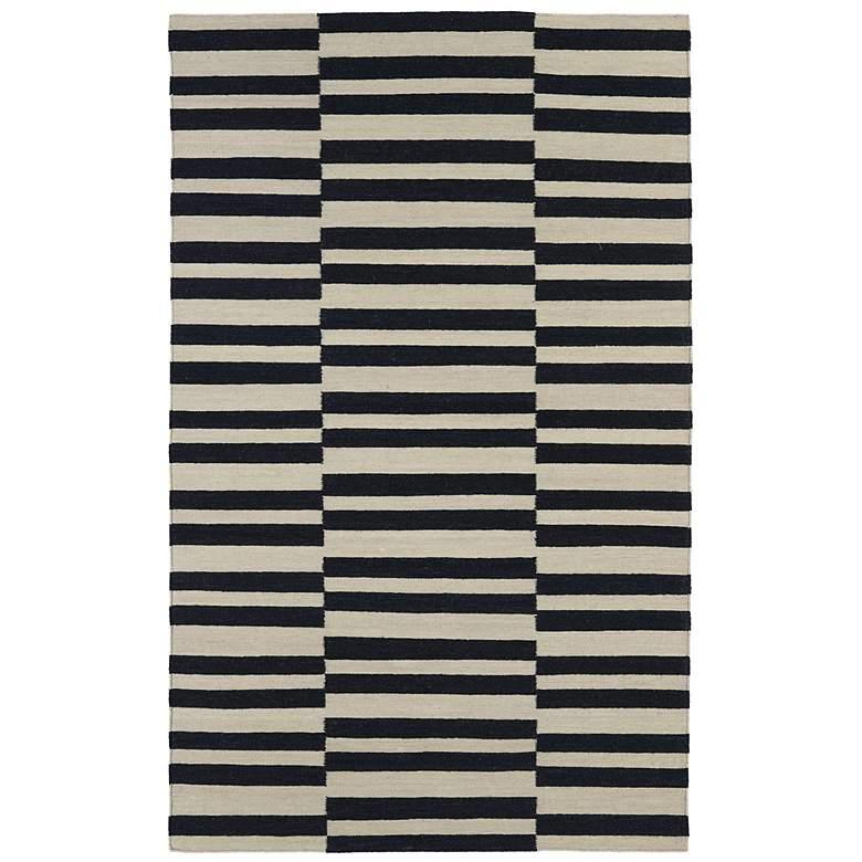 Kaleen Nomad NOM01-02 Black Wool Area Rug