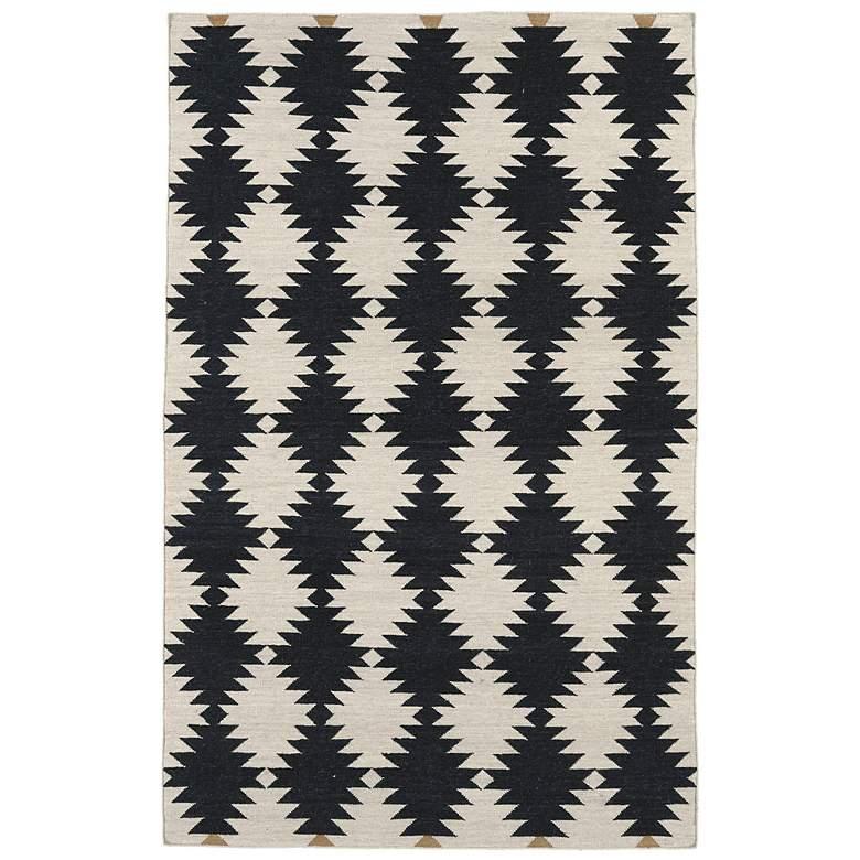 Kaleen Nomad NOM02-02 Black 5'x8' Wool Area Rug