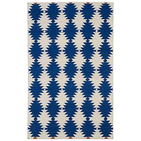 Kaleen Nomad NOM02-22 Navy Wool Area Rug