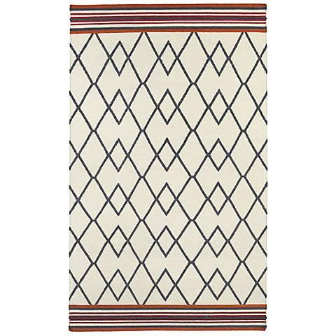 Kaleen Nomad NOM03-01 Ivory Wool Area Rug