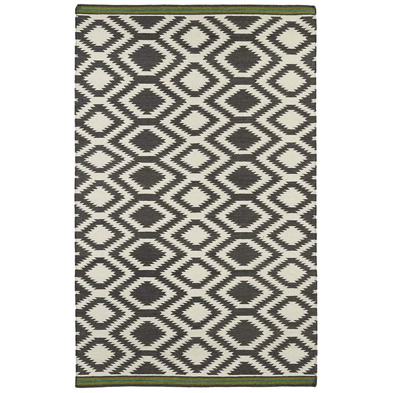 Kaleen Nomad NOM04-75 Gray 5'x8' Wool Area Rug