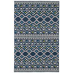 Kaleen Nomad NOM08-17 Blue 5'x8' Wool Area Rug