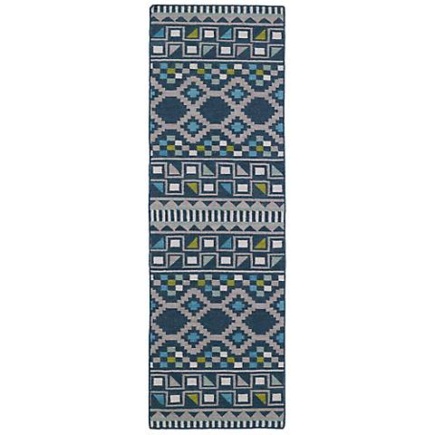 Kaleen Nomad NOM08-17 Blue Wool Area Rug
