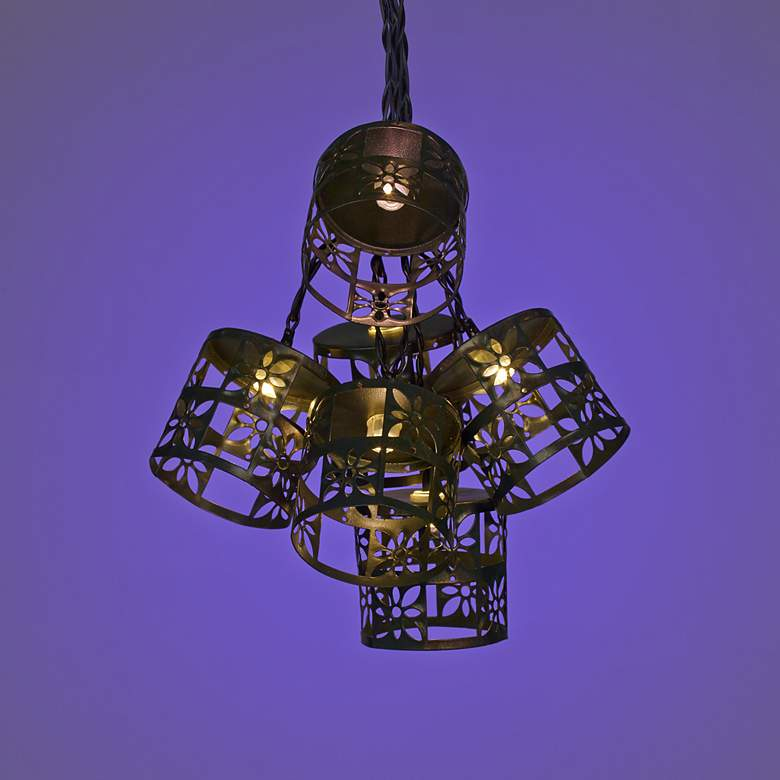 Bronze Flower 10-Light LED Party String Lights