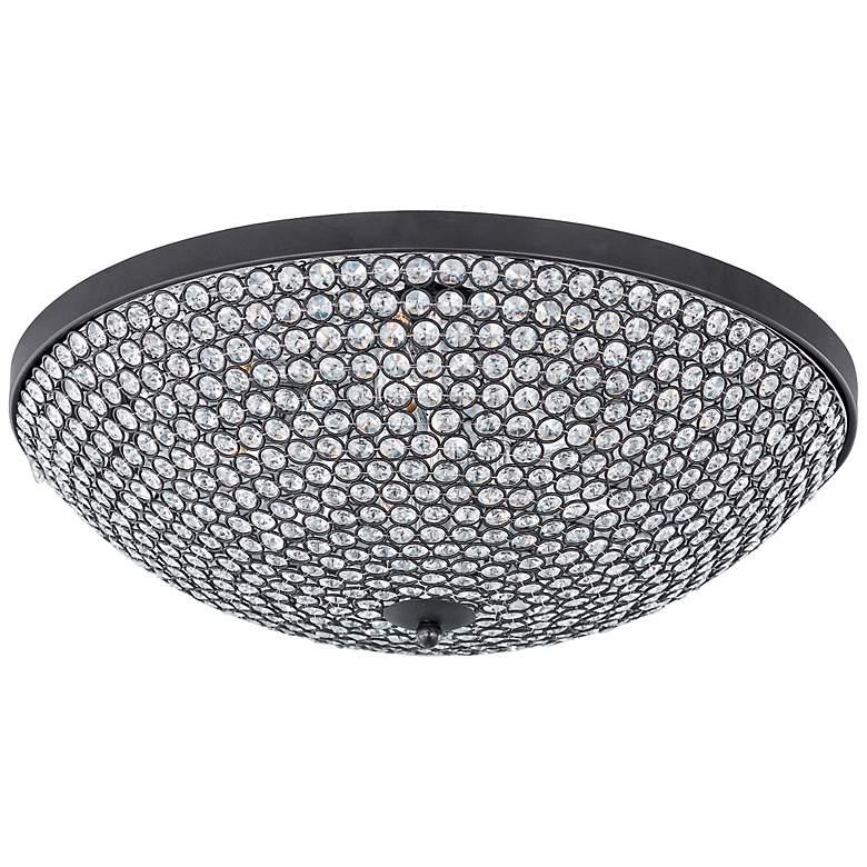"Maxim Glimmer 22"" Wide Bronze Ceiling Light"