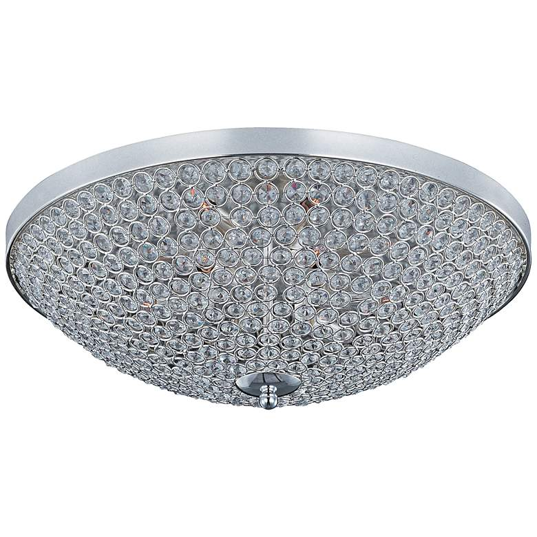 "Maxim Glimmer 22"" Wide Silver Ceiling Light"