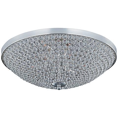 "Maxim Glimmer 22"" Wide Silver Ceiling Light"